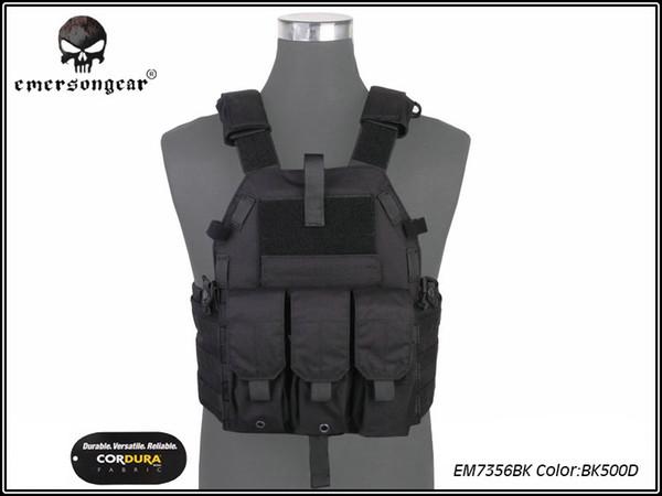 Emersongear Molle maglia Caccia Gioco Tactical Vest Airsoft Combat 094K M4 Pouch Vest Gear Nero EM7356 # 593916
