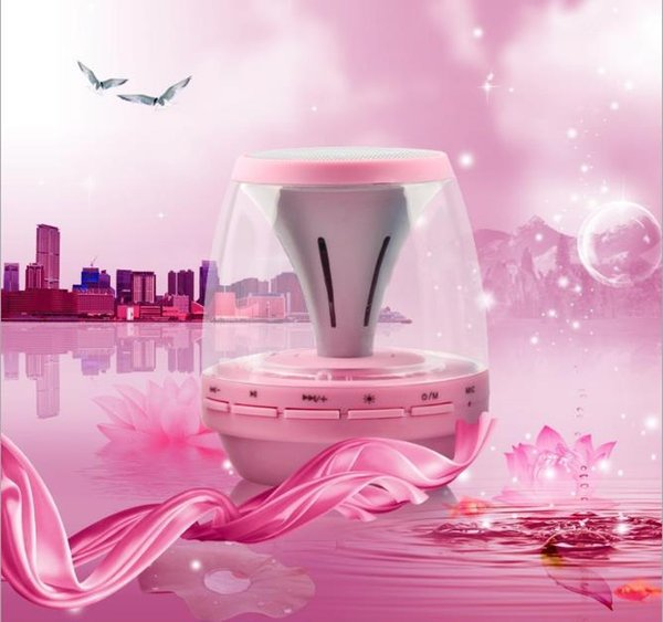 Ultra-bass LED lamp powered by M28 Bluetooth Audio Universal Wireless Bluetooth Speaker supports on-board hands-free of TF Card FM microphon