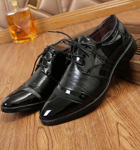 2019 marca dos homens dress lace-up oxford business formal sapatos homem de couro do casamento do escritório estilo simples qualidade homens sapatos
