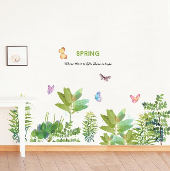 60*90 Creative DIY Warm Romantic Wall Stickers Butterfly Garden Flowers Wall Stickers Creative Fashion Home Decor