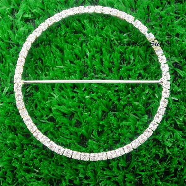 Rhinestone de plata hebillas de diamante de la cinta deslizante para ropa de mujer tarjeta de invitación de boda Hair Craft Accessories 70 mm cuadrado para silla banda