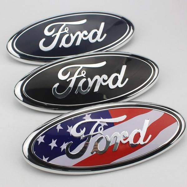 9 pollici 23 cm * 9 cm 7 pollici 17.5 cm * 7 cm Ford F150 F-150 Edge Explorer testa auto anteriore cappuccio coda posteriore tronco emblema distintivo adesivo