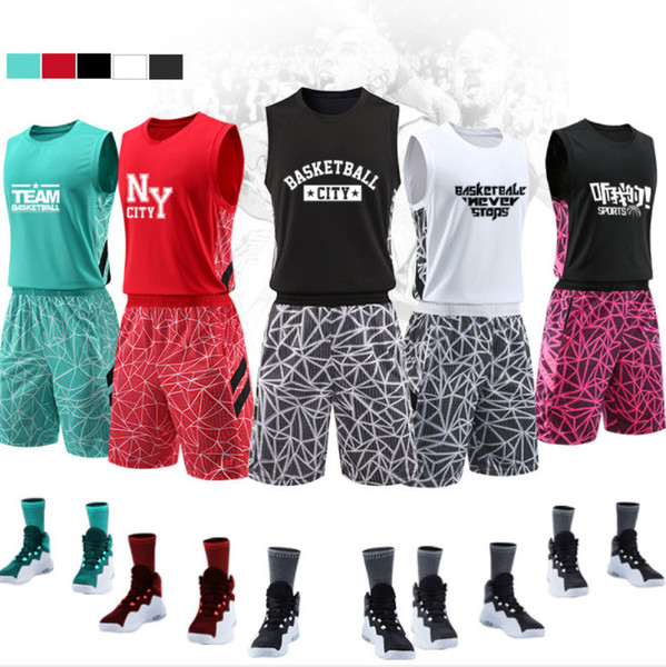 Hot selling New basketball suit custom suit, quick-drying breathable jersey, basketball team uniform, printed number name.So cool