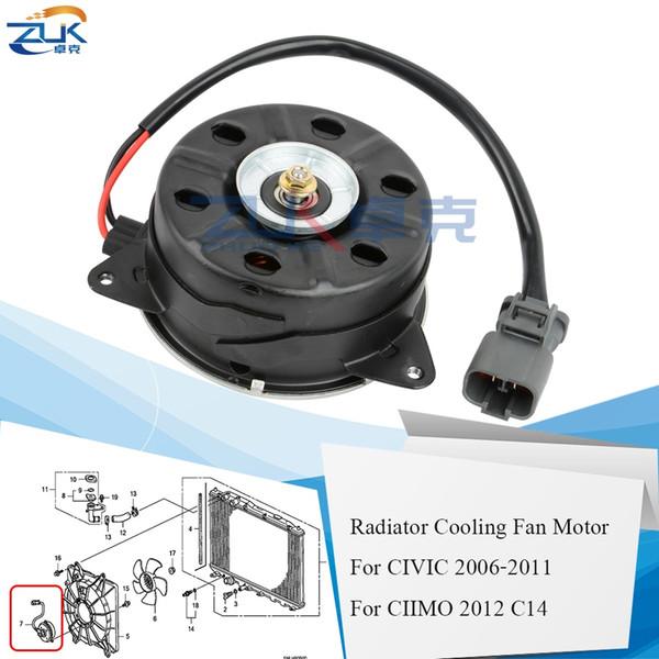 top popular Radiator Cooling Fan Motor For HONDA CIVIC 2006 2007 2008 2009 2010 2011 FA1 FD1 FD2 CIIMO 2012 C14 19030-RNA-A51 168000-7001 2021