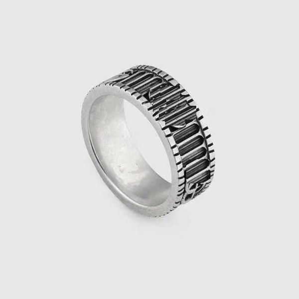 Alta qualidade 925 sterling silver estéreo duplo e duas cores padrão listrado para meninos e meninas anel