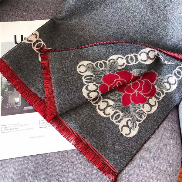 Winter new scarf cashmere blend soft double-color double-sided fine craft size 180*70