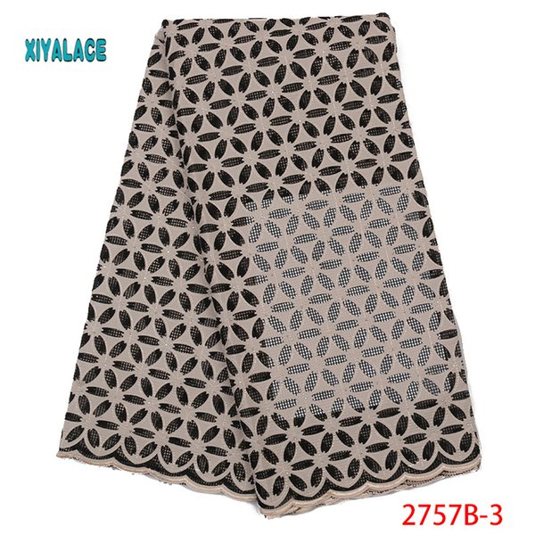 best selling New design Hot Sale Nigerian Lace Fabric,Fashion African Kano cotton Swiss Voile Lace In Switzerland High Quality YA2757B-3