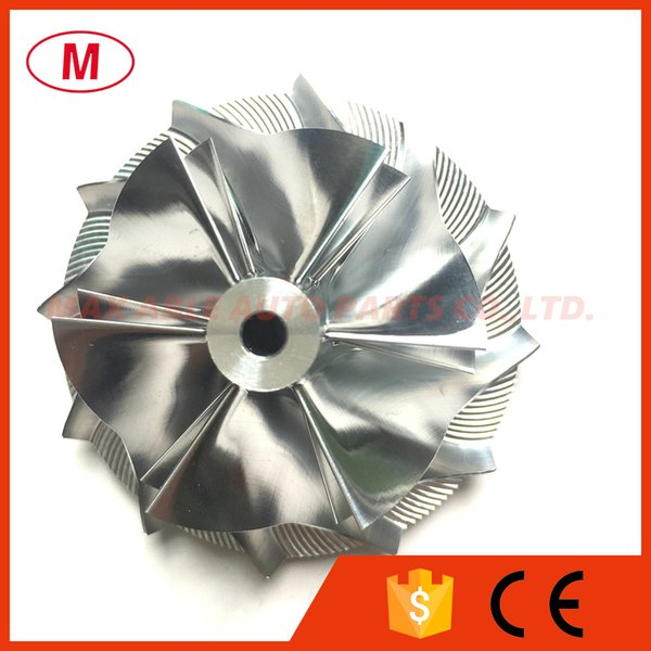 GT12 41.40/55.00mm 6+6 blades Forward High Preformance Turbo Billet Compressor wheel/Aluminum2618/Turbocharger Milling compressor wheel