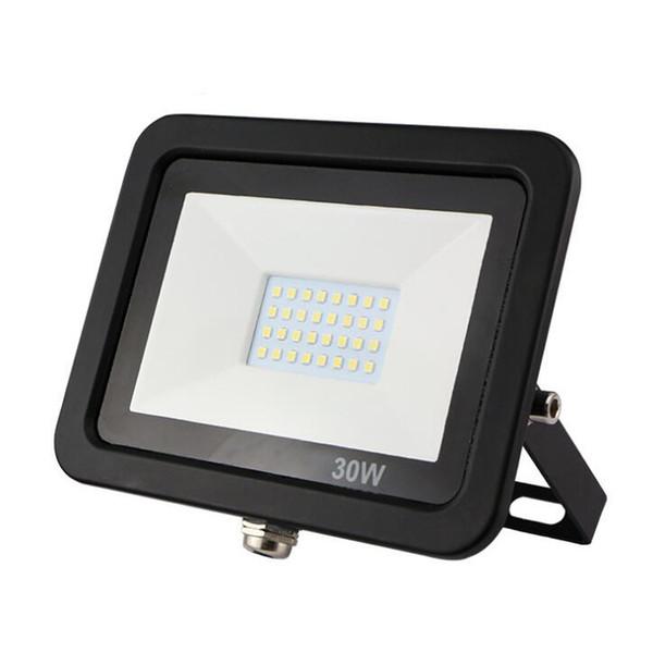 15pcs / lot Ultrathin LED SMD luci di inondazione 10w 20w 30w 50w 100w di illuminazione esterna Illuminazione impermeabile Ip65 AC85-265V Proiettore