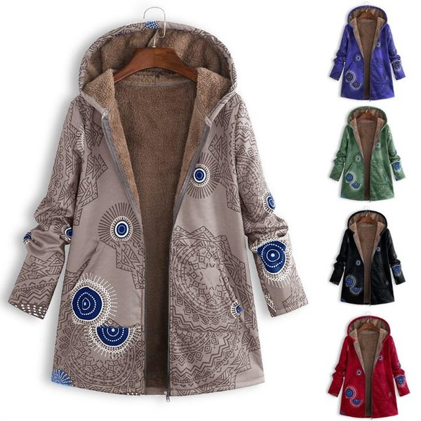 Cappotto da donna Designer Cappotto di moda stampato Maglione con cappuccio da donna Giacca a maniche lunghe in peluche 19ss Nuovo arrivo Plus Taglia S-5XL 5 colori