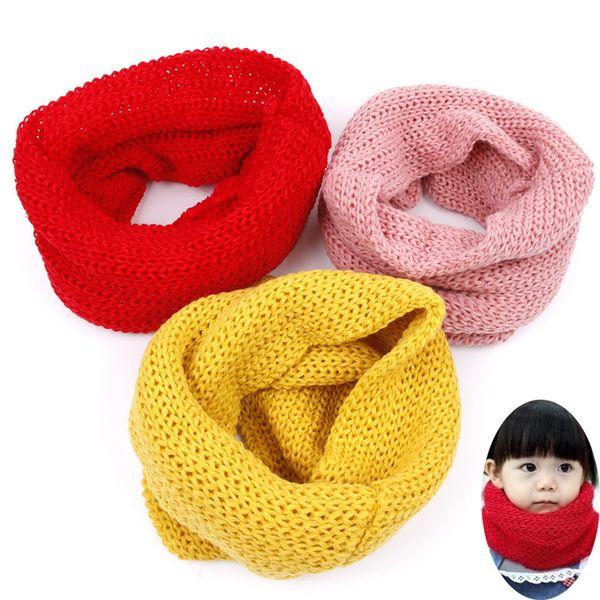 Coton bavard bébé bavoir bébé chaud chaud écharpes garçons écharpes filles tricoté O anneau
