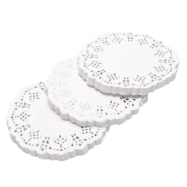300pcs Round Craft Placemats Paper Cake Lace Ornament
