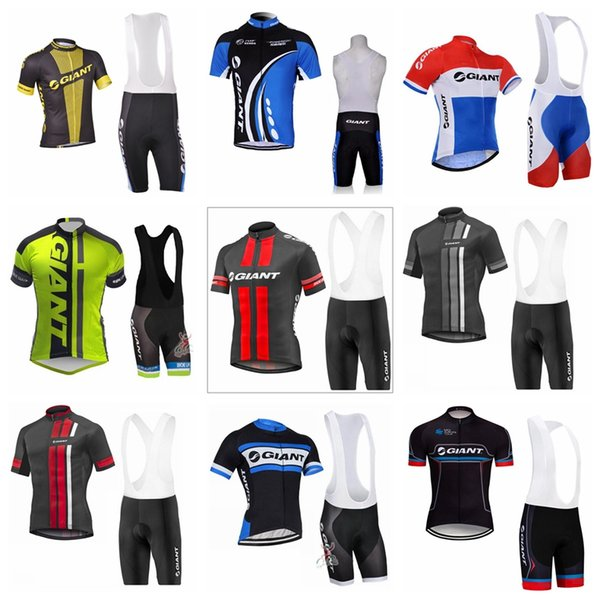 GIANT team Cycling Short Sleeves jersey bib shorts sets Summer comfortable wearable men's outdoor sports Jersey suit S6117