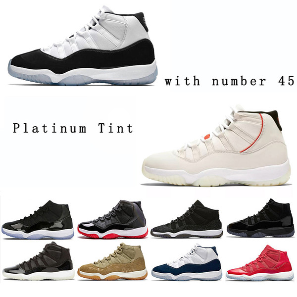 Cap and Gown Prom Night 11 11s mens basketball Shoes Black Gym Red Chicago Midnight Navy Space Jams sneakers size US 5.5-13