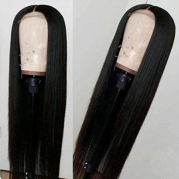 Avant de lacet perruques de cheveux humains pour femme noire non transformée vierge brésilienne droite remy perruque pas cher pas cher avant plucked avec cheveux de bébé