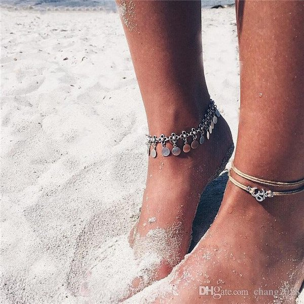 Bohemian Beads Ankle Bracelet for Women Leg Chain Round Tassel Anklet Vintage Foot Jewelry Accessories 20 styles ALXY