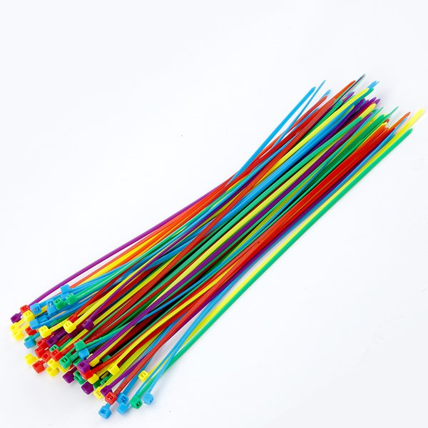 200ml Self-locking Nylon Cable Ties 8inch 100pcs/pack 18 color Plastic Zip Tie 18 lbs black wire binding wrap straps UL Certified