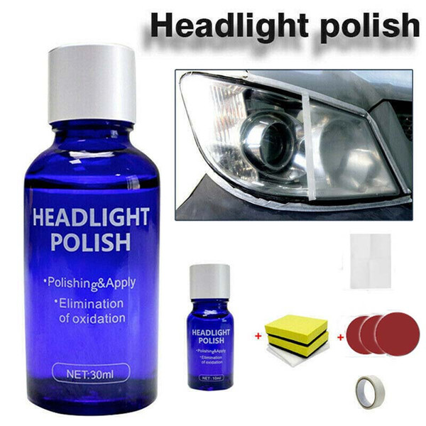 best selling Auto Headlamp Repair Kit 30ml 10ml Car Headlight Repair Tool Oxidation Rearview Glass Anti-scratch Coat Plating Liquid