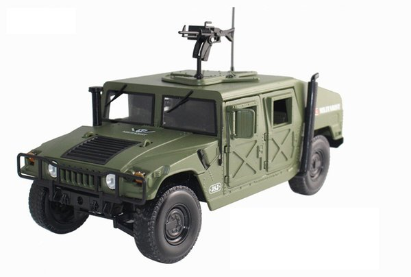 KDW Alloy Truck Model Toy, Hummer H1 Military Vehicle, 1:18 Big Size High Simulation, Party Kid' Birthday Gifts, Collecting, Home Decoration