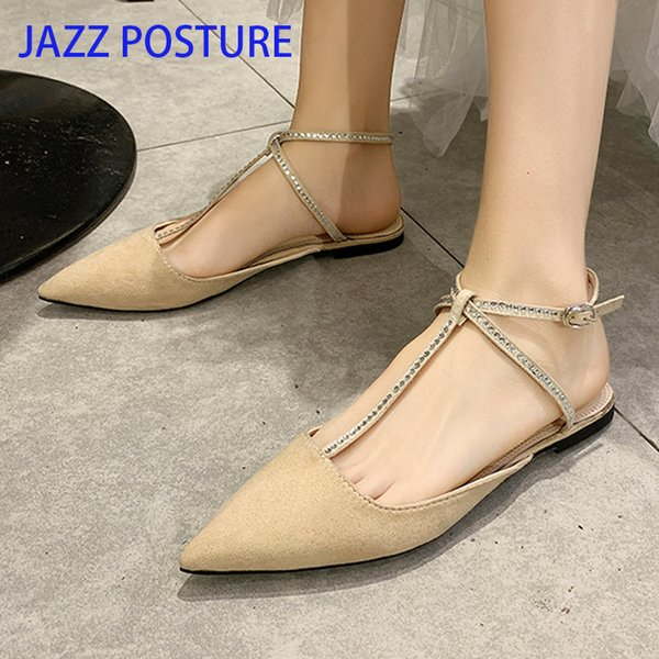 Hot Sale Women Flat Shoes Summer Pointed Toe Woman Elegant Party