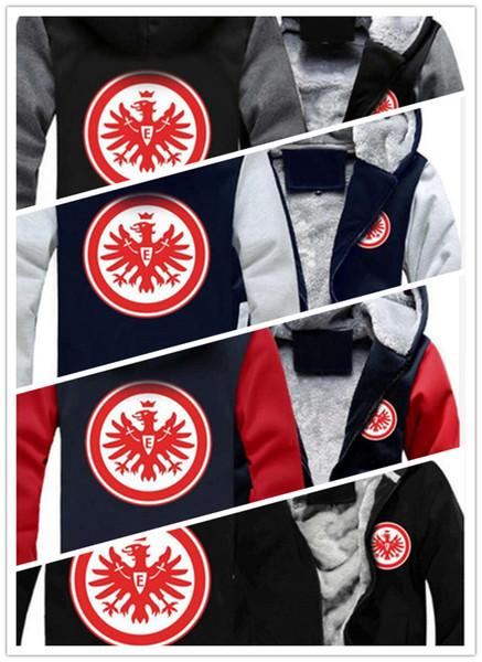 2019 inverno felpa con cappuccio Eintracht Francoforte calcio uomo donna caldo Felpe autunno vestiti felpe con cerniera giacca in pile con cappuccio streetwear