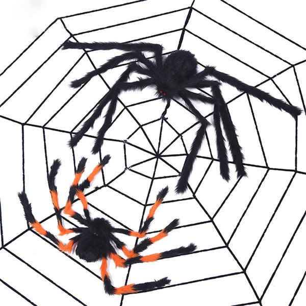 Halloween Spider Props Big Spider Haunted House Decoration Bar Decoration Funny Tricky Toys Halloween toy DHL free shipping