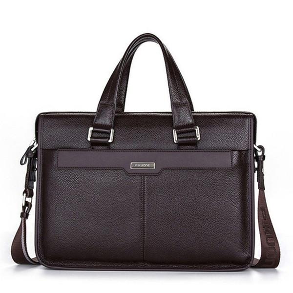 100% Original Brand Cowhide Men Briefcases Famous Designer Genuine Leather Handbags Men Laptop Bag Real Leather Shoulder Bag
