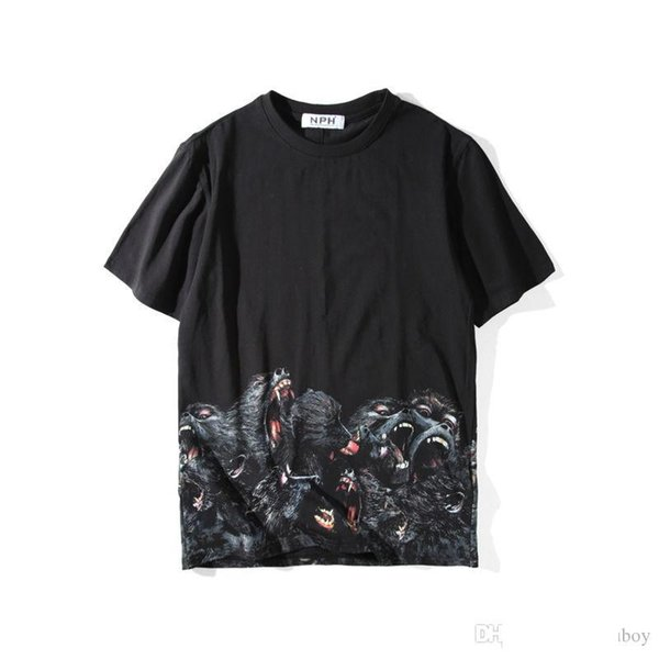 Luxe Mens Designer T-shirt Vêtements pour hommes 3D T-shirt d'été Orangutans Hip Hop Hommes Femmes manches courtes Taille S-XXL