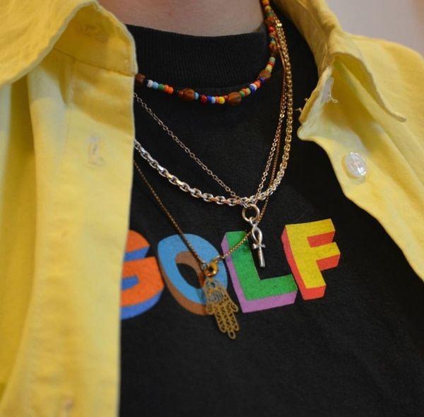 Novo Luxo Por Atacado Golfe Wang 3D LOGOTIPO Shorts De Golfe Mens Designer de T Camisas das Mulheres Casal Camiseta de Alta Qualidade Hip Hop T Da Maré HFSSTX275