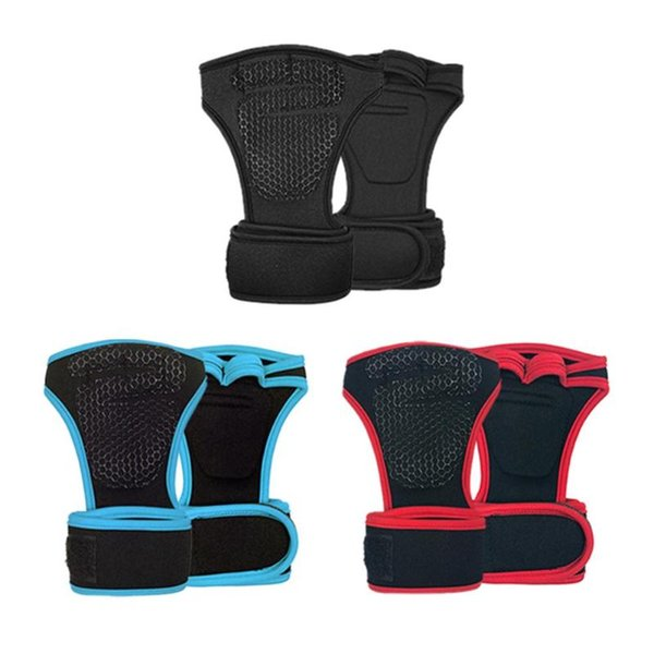 Weight Lifting Gloves Dumbbell Training Fitness Gym Wrist Hand Grips Palm Protection Glove Sports Safety Wrist Support Accessory