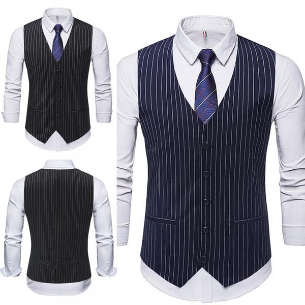 2019 hommes gilet styles rayé tissu single-breasted hommes vêtements gilets meilleur hommes gilets hommes gilet sur mesure