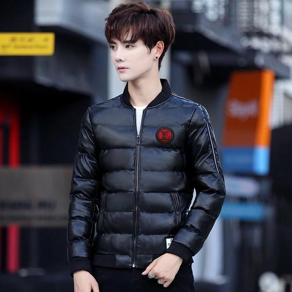 Mens вниз размер куртки вскользь куртка M-3XL удобной теплой WSJ011 # 112849 ijessy03