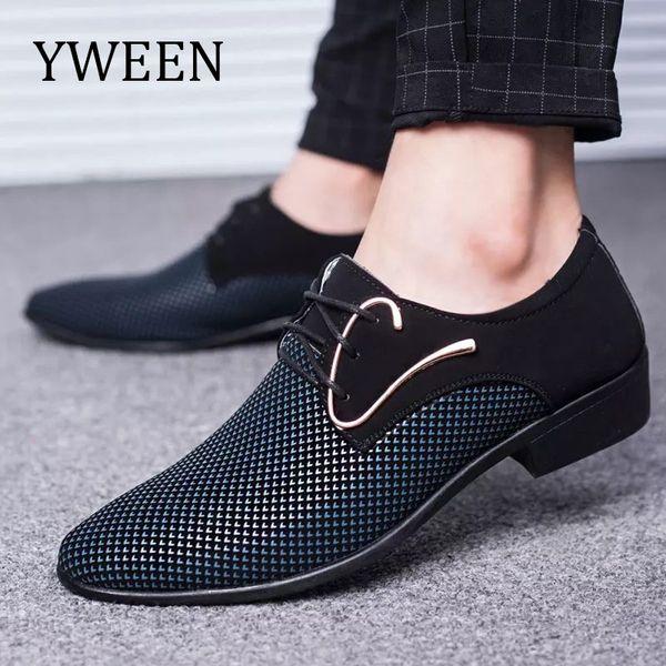 YWEEN Neu kommen Männer Oxford Schuhe Freies Verschiffen Männer Kleid Schuhe Mann Casual Plus Größe 38-48 # 7984