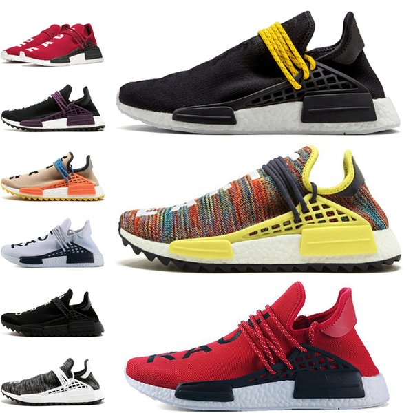 Human Race Hu trail pharrell williams men running shoes Nerd black Pink Glow mens trainers women designer sports runner sneakers size su