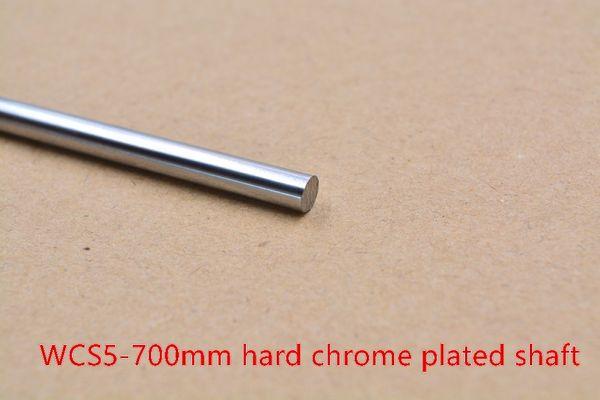 Eixo de haste de impressora 3D WCS 5mm comprimento linear 600mm a 800mm cromo banhado trilho de guia redondo