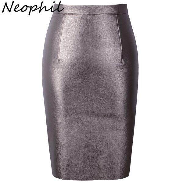 Neophil 2019 Sexy Faux Fur Leather Pu High Tail Midi Women Pencil Skirts Xxl Office Wrap Bodycon Short Girls Tutu Saia S08019 Y19071501