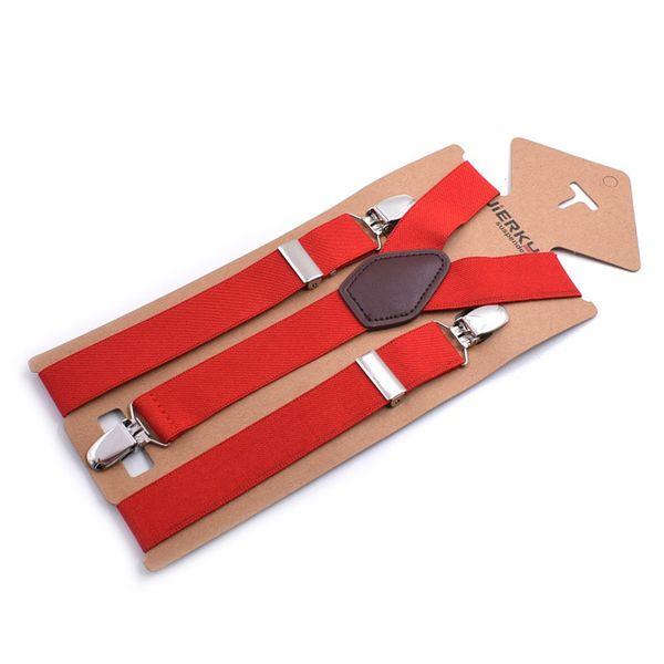 MenWomen Vintage Bretelle Clip-On elastico regolabile Bretelle Pant Pantaloni adulti bretella cinghie Tirantes Hombre