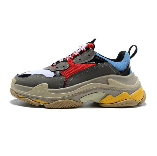 2019 Boyutu 36-45 Moda Üçlü S Tasarımcı Düşük Eski Baba Sneaker Kombinasyonu Tabanı Çizmeler Bayan Bayan Koşucu Ayakkabı En Kaliteli