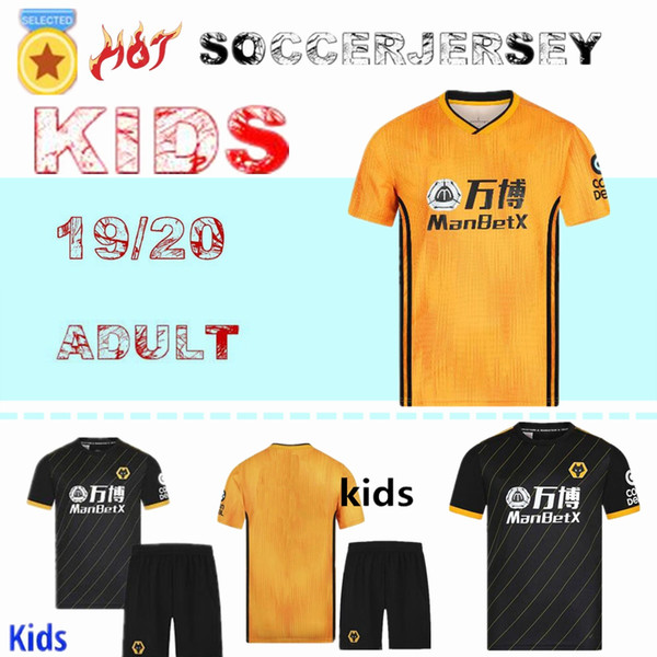 2019 2020 Wolves NEVES RAUL domicile Maillots de football pour adultes 19 19 20 maillots de football Wolverhampton Wanderers Doherty DIOGO J.kids maillots de foot