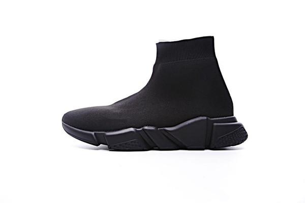 2019 designer men women Speed Trainer fashion Luxury Sock Shoes black white blue glitter Flat mens Trainers Runner sneakers size 36-45