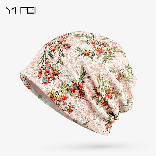Surprise Price New Fashion 2 Used Women Flower Hat Scarf Knit Autumn Caps 3 Colors Casual Beanies Skullies Solid Bonnet