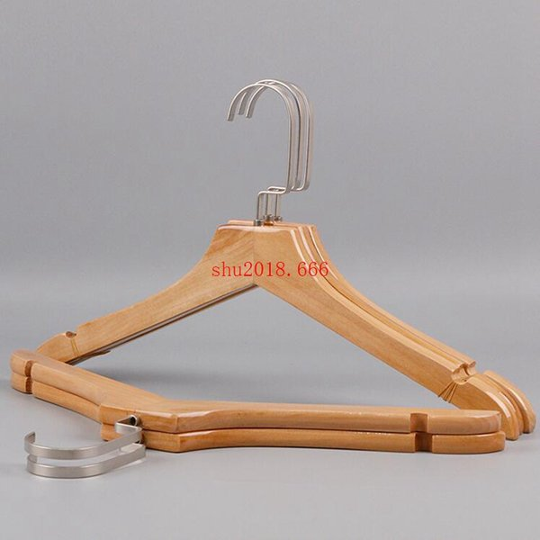 free shipping Ladies solid wood clothing clothing store non-skid flat hook women's wooden clothes up