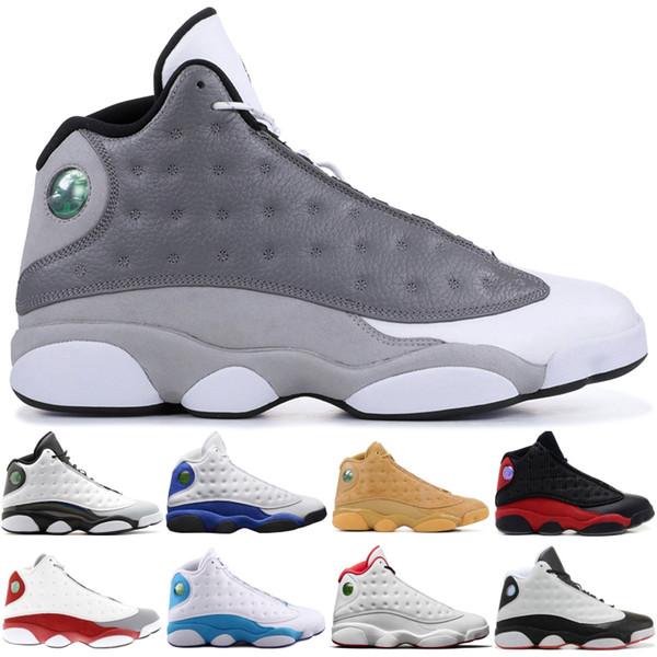 13 13s Zapatos de baloncesto altos Atmósfera para hombres Barones grises Holograma Respeto por el amor Zapatos de diseñador de lujo negros Zapatillas de deporte XIII