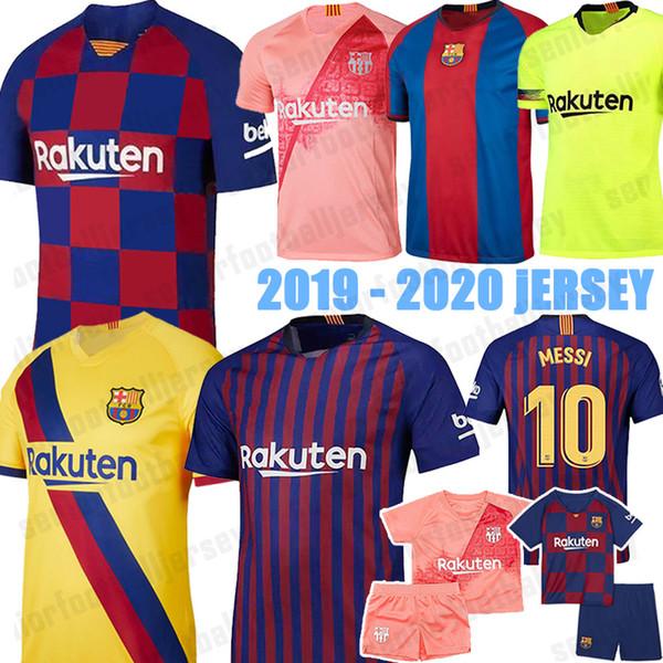 2019 2020 Barcelone Maillots de football 10 Messi 17 Griezmann Dembele Suarez DEMBELE Hommes kits Kid femmes 19 20 maison NOUVEAU loin troisième Jersey