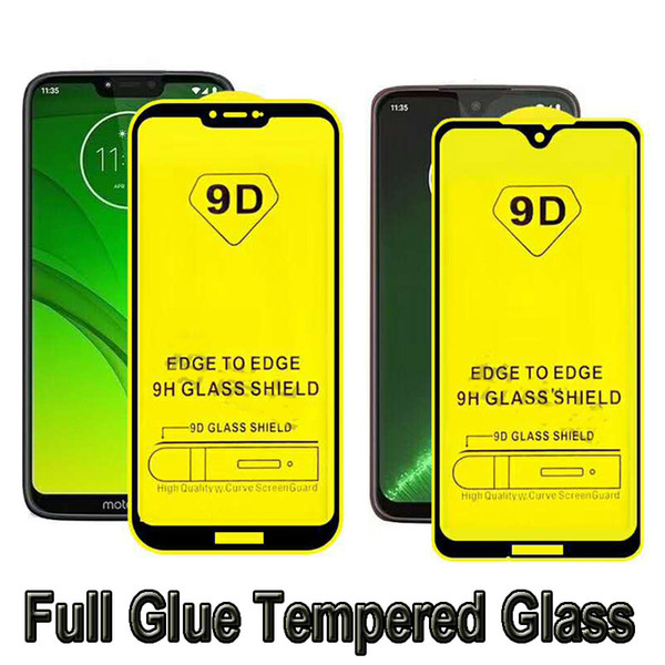 For Moto G7 Power Redmi GO iPhone XR XS Max 6s 7 Plus 8 Full Glue Tempered Glass Full Cover 9D New Screen Protector