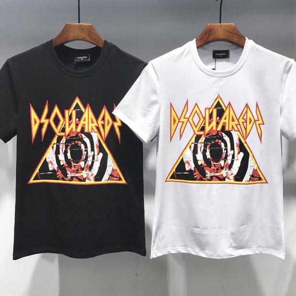 Лето новые мужчины футболка мода с коротким рукавом футболка лето футболка мужчины повседневная футболка высокое качество топ Европа и Америка летняя рубашка D2890