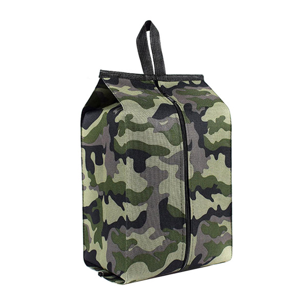 Large Capacity Storage Camouflage Waterproof Shoes Bag Tote Organizer Portable Home Pouch Travel Dustproof Oxford Cloth Hanging