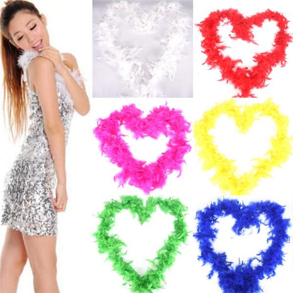 Wedding Party 2M Moda Fancy Dress Feather Boa Decoração do feriado Pub Fluffy Pena lenços Costume Plume Scarf New TTA2046