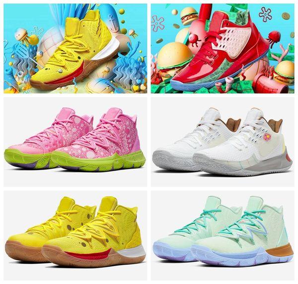 2019 Мужская Kyrie Sponge Baby PE Designer 5 Баскетбольные кроссовки Желто-белые 5s Bobs Squidward Mountain de