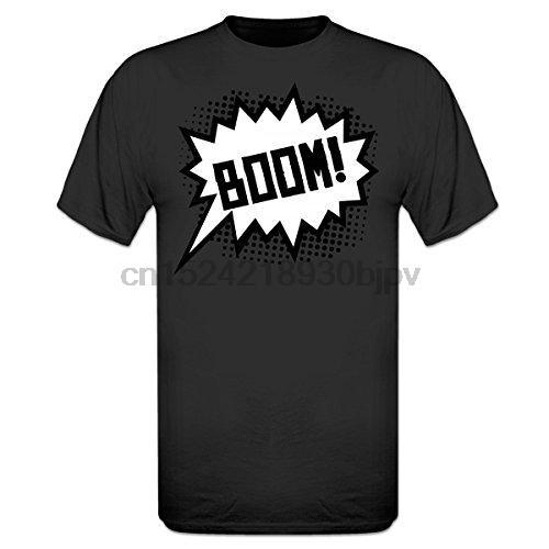 Camiseta Design Regular Novo Casual T Shirt Tee Curto Boom Comic Homens Top O-pescoço Camiseta Melhor Venda de Algodão Natural Masculino S